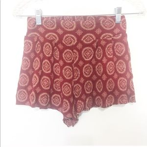 Brandy Melville High Waist Printed Shorts One Size